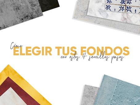 FONDOS PARA FOTOS: 4 MANERAS DE ELEGIRLOS