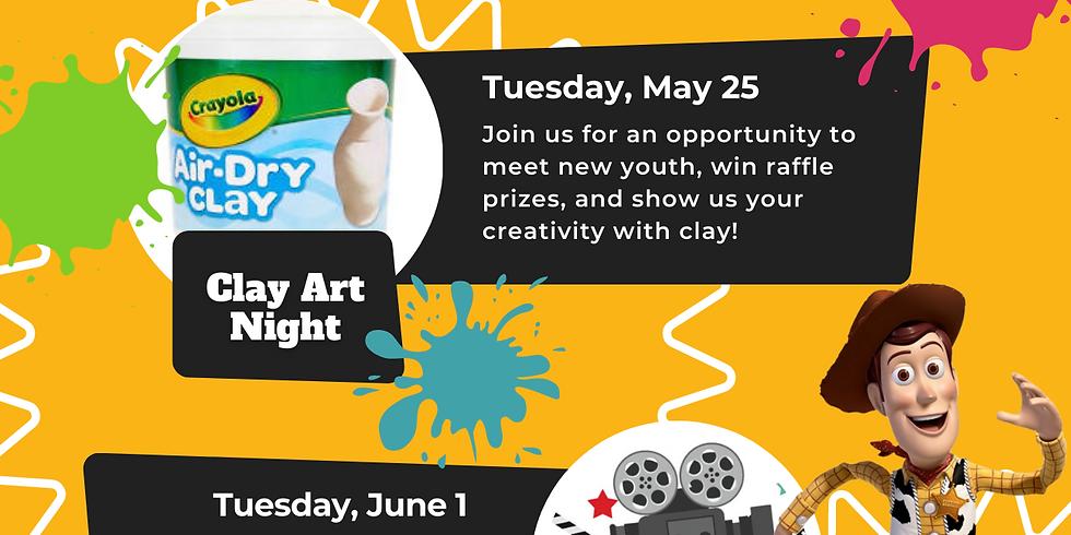 Entre Amigos Virtual Youth Pop Up Series - Clay Art Night