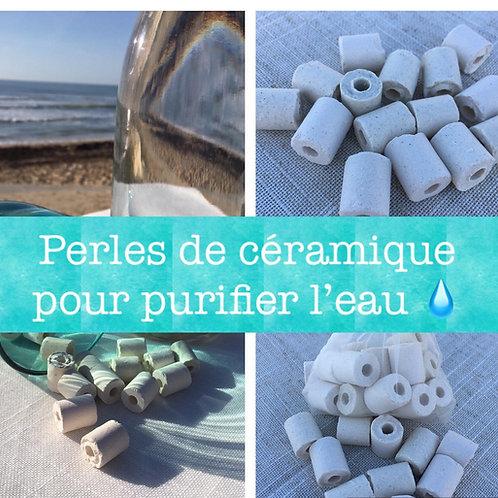 Sachet de 15 perles céramique pour filtrer l'eau