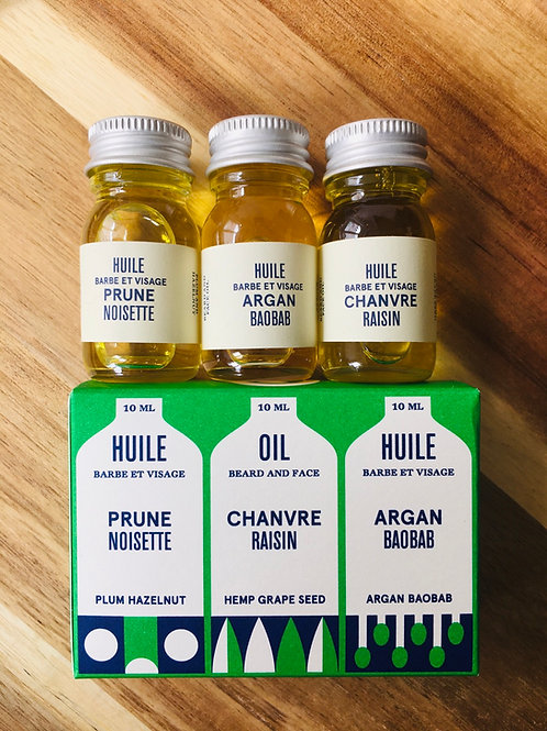 3 mini huiles soin homme