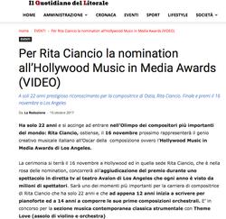 Hollywood Music Awards Nomination