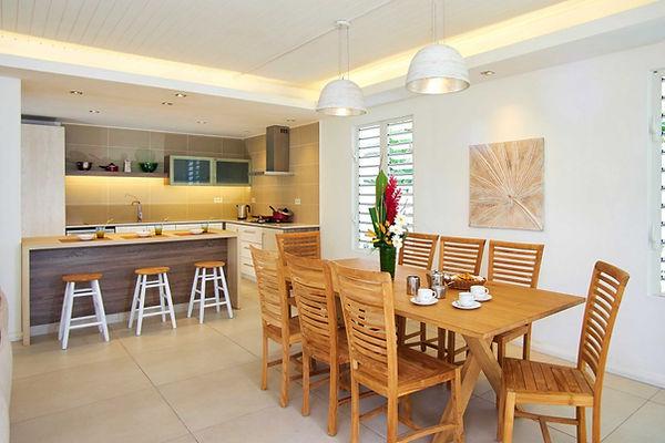 Pereybere luxury beachfront villa kitchen
