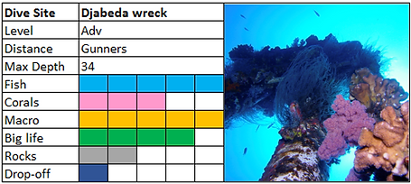 Djabeda Wreck Scuba Diving Mauritius site