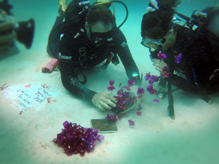 Romantic underwater proposal in Mauritius