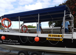Custom built Scuba Diving boat launched in Mauritius