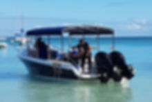 Scuba Diving Mauritius boat