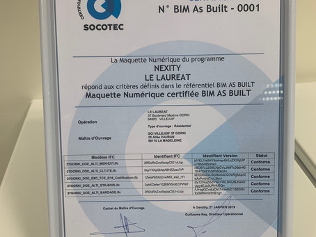 Certification BIM as Built 🤩