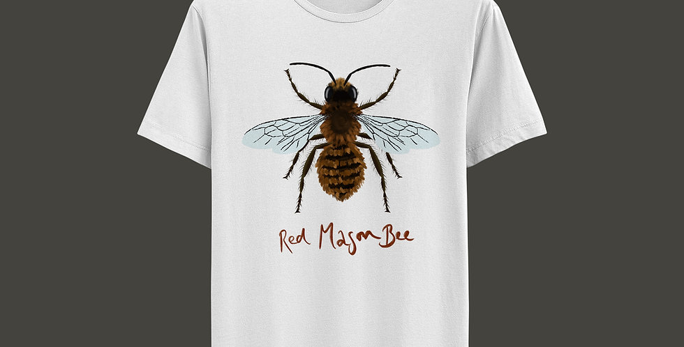 Donk Illustration T-Shirt: Red Mason Bee