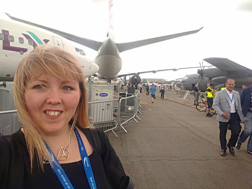Amanda Thurlow at Farnborough International Air Show