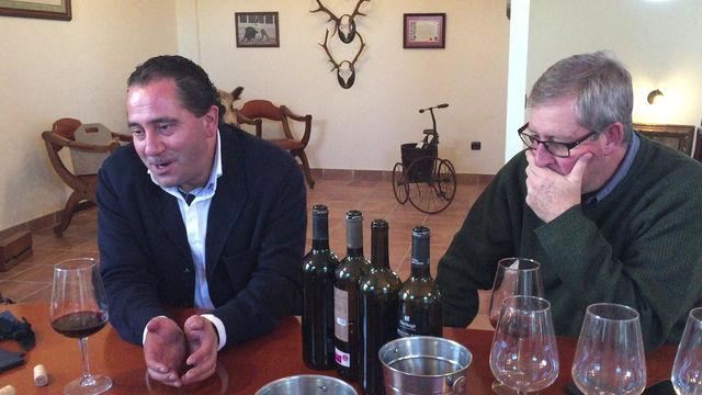 Master tasting with José Carlos Álvarez in his Ribera del Duero winery.