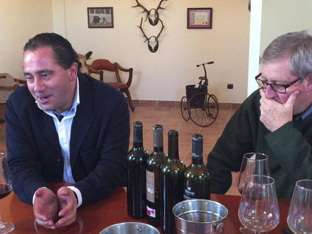 Master tasting with José Carlos Álvarez in his Ribera del Duero winery.