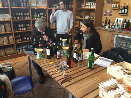 Tasting and presentation in Germany of organic wines.
