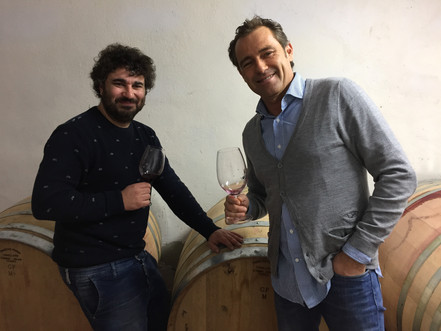Tasting of the new vintages with our friend Tomeu. Ca´n Verdura in Mallorca .