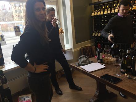 Tasting of red wines at Boucherville in Zurich.