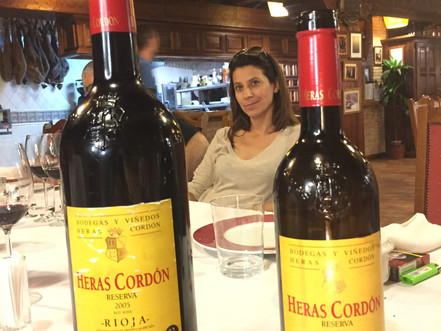Lunch and tasting in Rioja with Bodegas Heras Cordón.