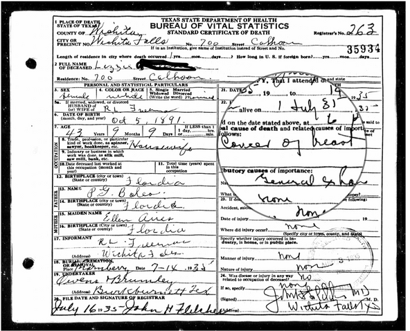 Unknown Parentage and Medical History