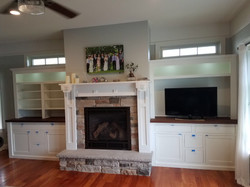 White Lacquered Built-ins