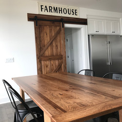 Barn Door and Table
