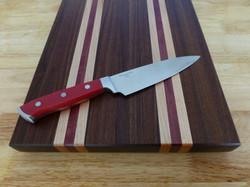 Walnut, Maple, Purpleheart Cutting Board