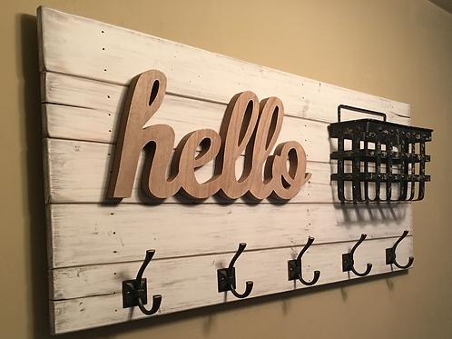 """""""Hello"""" Entryway Storage Rack"""