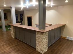 Basement Bar/Posts/Countertops