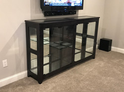 Ebony Maple Display Cabinet