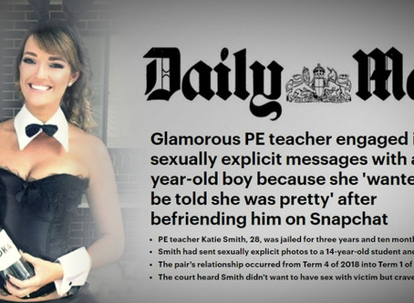 ATTENTION WHORE: PE Teacher, Katie Smith, Snapchatted 14-year-old While Rubbing Her Pussy For Him
