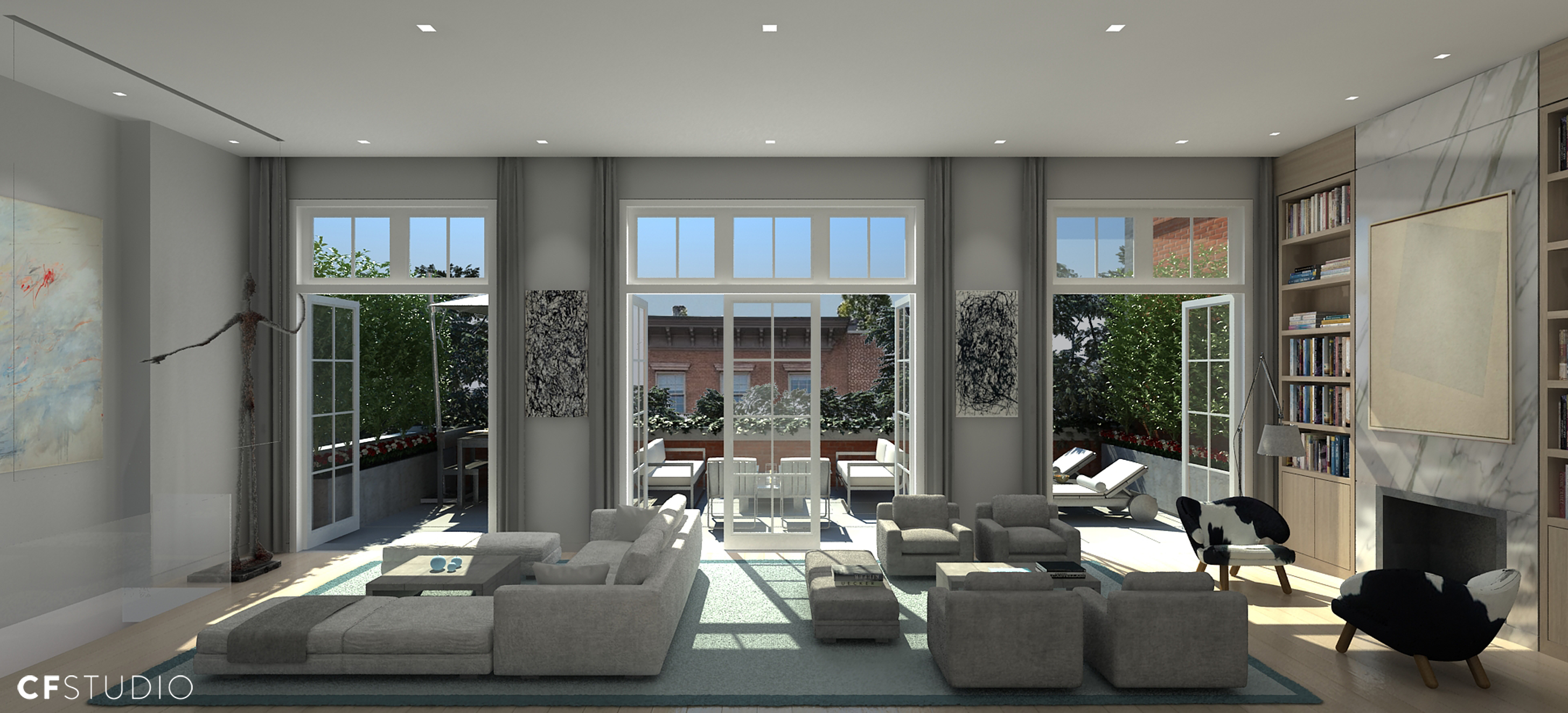 6th Floor Apartment Living Room