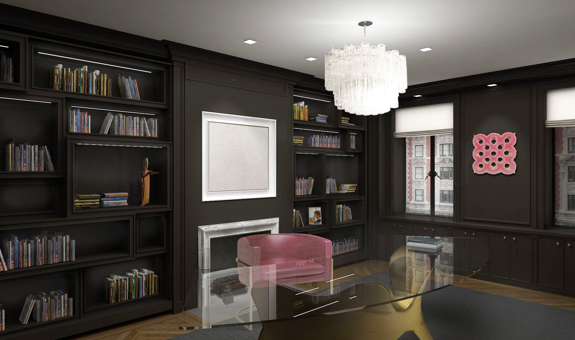 Central Park West Residence - Library