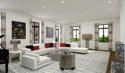 Central Park West Residence - Living roo