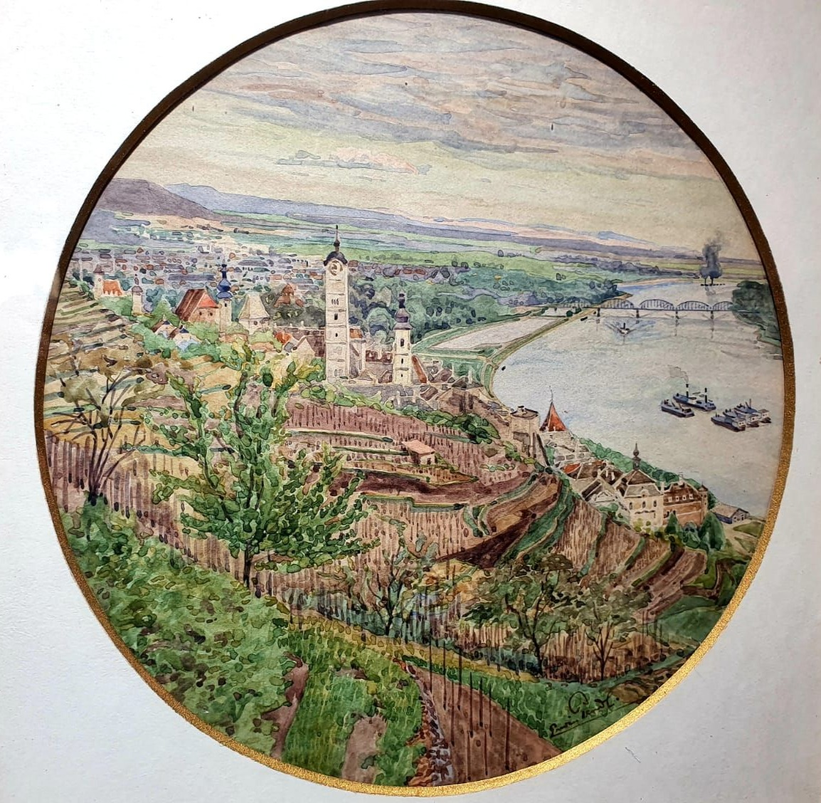 Blick über Stein an der Donau