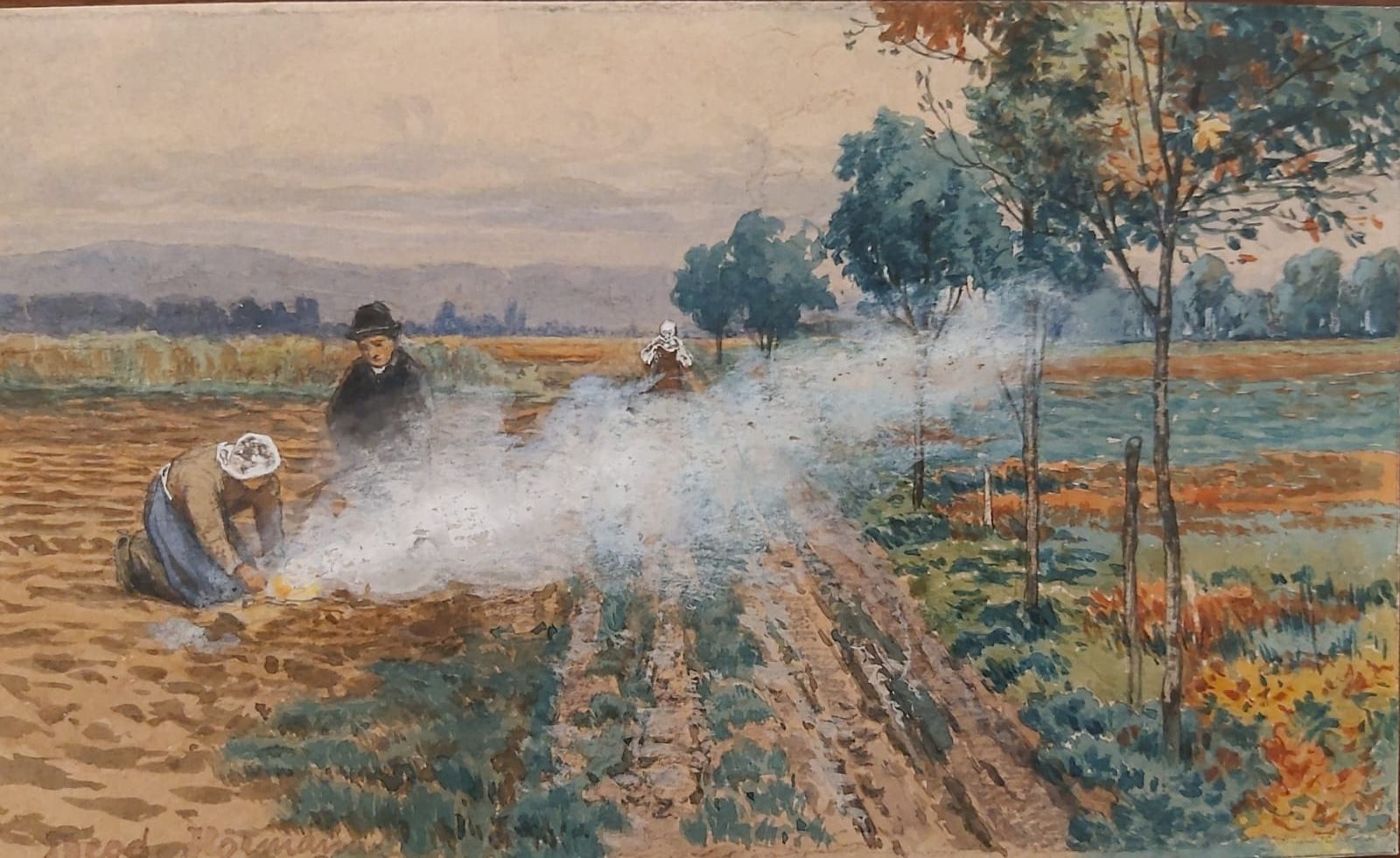 Hörmann Theodor von - Nach der Kartoffelernte