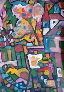Maler am Stadtrand