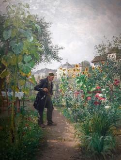 Josef Kinzel - Sommergarten der Hermine Cloeter in Weissenirchen