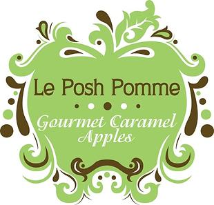 Le Posh Pomme Gourmet Caramel Apples Logo