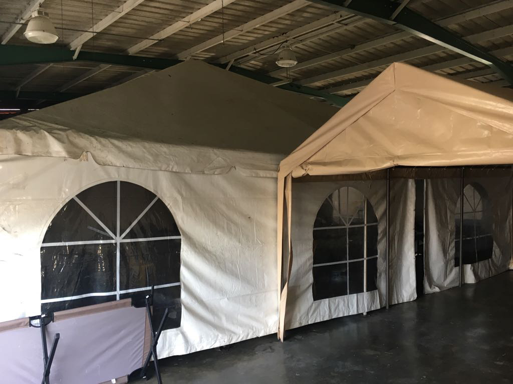 Royal Services deploys tents to provide climate controlled sleeping areas for both engineers and military in Bayamon Puerto Rico.