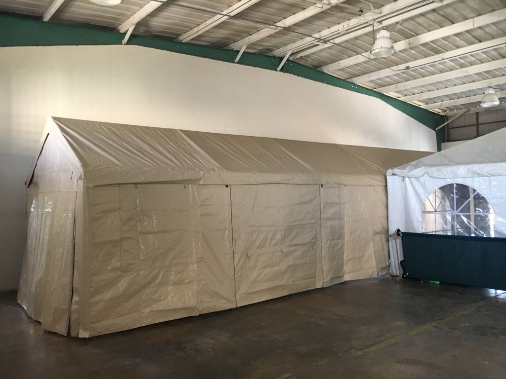 Royal deploys tents for engineers and military in Bayamon PR