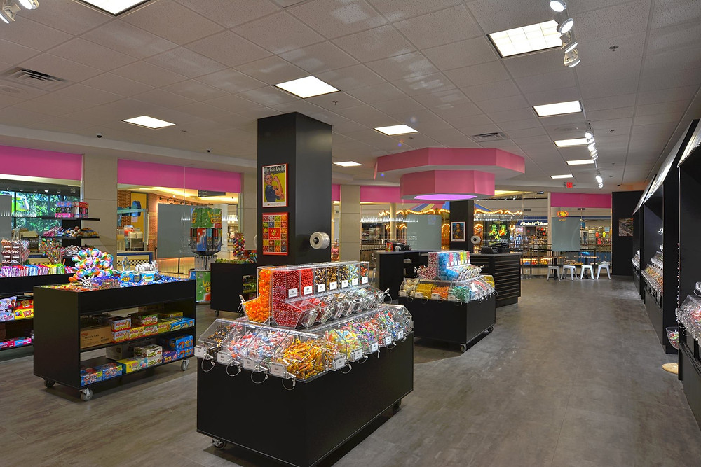 Candy stores will always be a crowd favorite destination retail experience