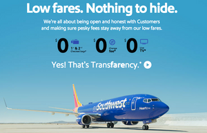 Southwest Airlines transfarency is an example of great customer service