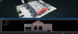 Exterior 2D and 3D store scans collected using immersive technology tools