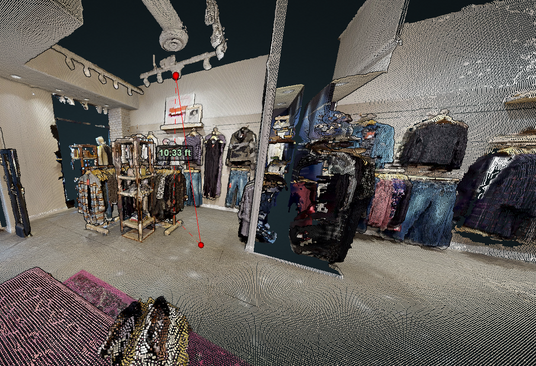 Using point cloud data to measure ceiling height remotely