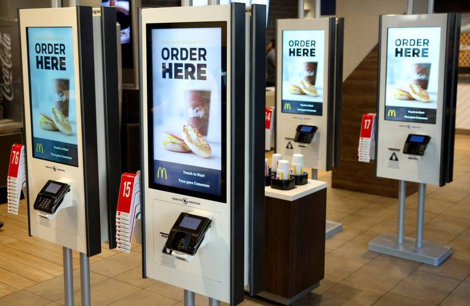 Self ordering kiosks in McDonalds to enhance the in-store experience