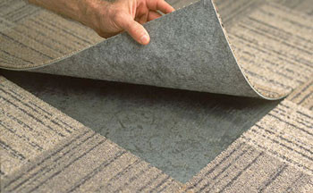 Carpet tiles are perfect for under carpet power installed by Royal Services