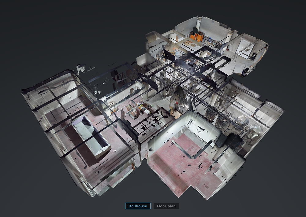 Dollhouse view captured using immersive technology
