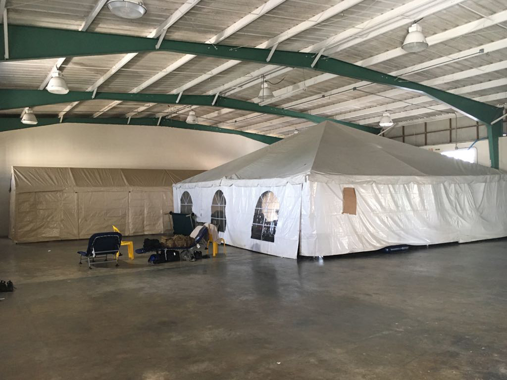 Royal  Services deploys tents to provide climate controlled sleeping for engineers and military in Bayamon, Puerto Rico.