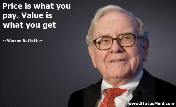 Warren Buffet price vs cost explanation