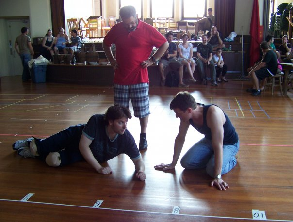 Directing Valjean and the Bishop