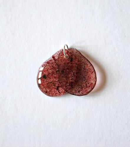 Kelp Laver Pink, Pendant. Silver.