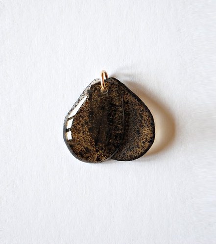 Sea Oak Brown, Pendant. Gold.