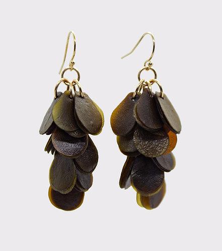 The Kelp Cluster, Drop Earrings.